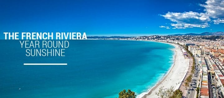 French riviera banner where is a view of the riviera