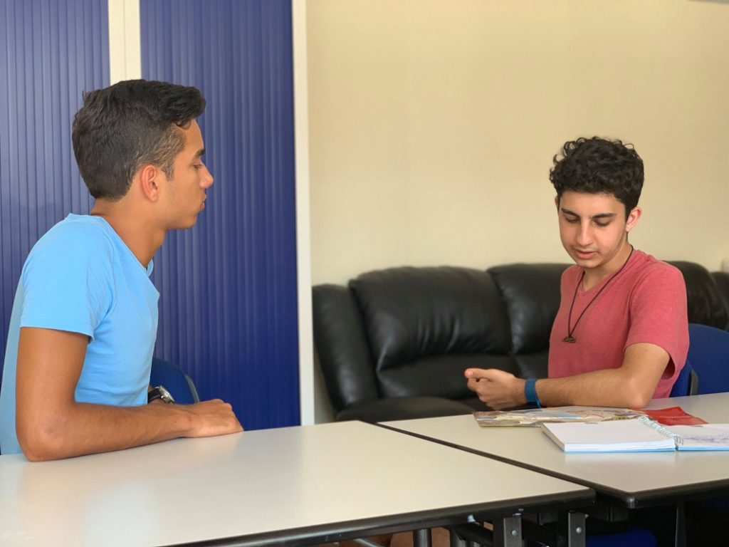 Teenager conversational French class in Cannes