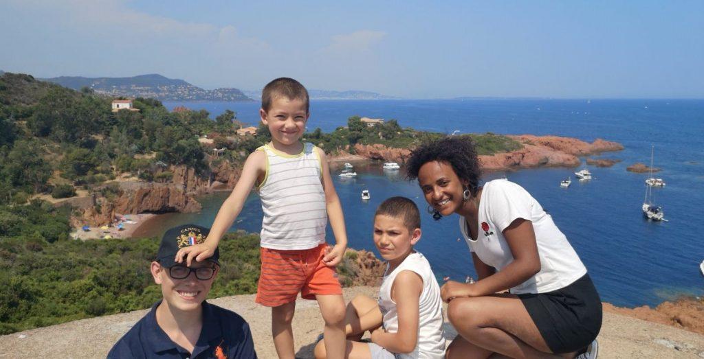 Sightseeing along the Mediterranean coast