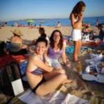 Beach picnic Cannes