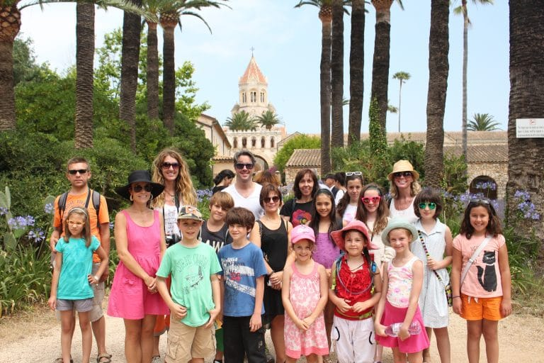 Sightseeing around Sainte-Marguerite, Cannes with families attending French language holiday courses